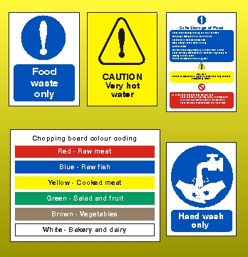 Chopping Board Colour Coding Sign Cat012 Health And