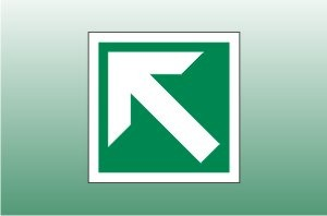 Diagonal Arrow Fire Exit Signs