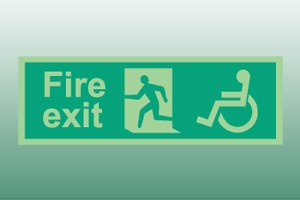 Photoluminescent Disabled Exit Sign
