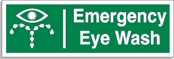 Emergency eye wash sign - First Aid Signs
