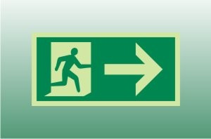 Photoluminescent Exit Sign Right - Fire Safety Signs
