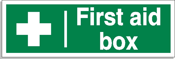 First aid box sign - First Aid Signs