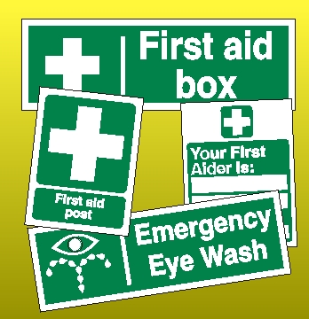 First Aid Signs and Posters