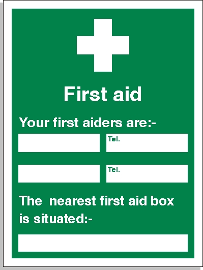 First Aid Location Sign First Aid Signs Fa007