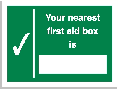 First aid location sign - First Aid Signs