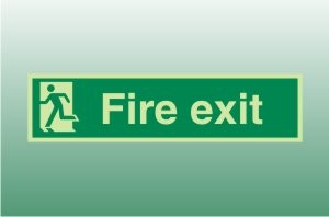 Photoluminescent Final Exit Left - Fire Safety Signs