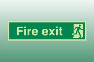 Photoluminescent Final Exit Right - Fire Safety Signs