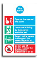 Fire Action Sign Simplified - Fire Action Notice