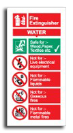 Fire Extinguisher Water Sign - Fire Safety Signs