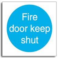 Fire door keep shut sign