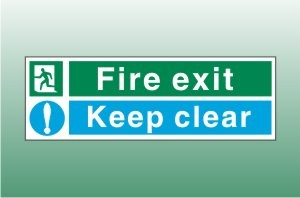 Fire exit signs - Keep clear