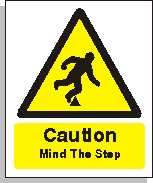 Caution Mind The Step Signs