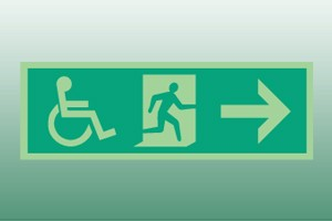 Photoluminescent Disabled Exit Sign - right