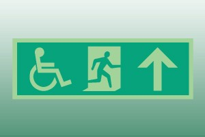 Photoluminescent Disabled Exit Sign - up