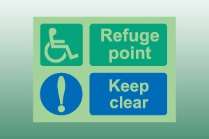 Photoluminescent Disabled Refuge Point Sign