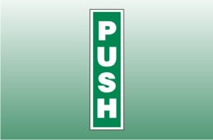 Fire Exit Signs - Push