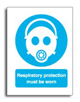 Respirator protection must be worn sign