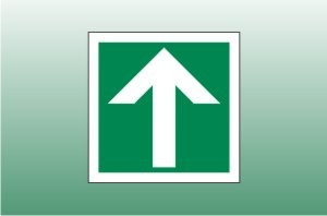 Straight Arrow Fire Exit Signs