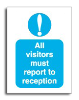 Visitors reception sign