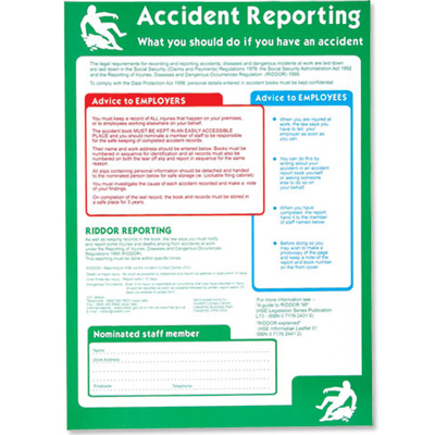 Accident Reporting Poster