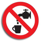 No drinking water disc sign