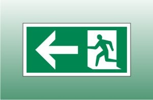 Exit Sign Left - Fire Exit Left Signs