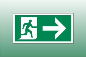 Exit sign right - Fire Exit Right Signs