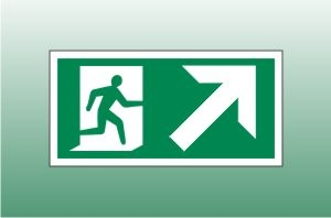 Exit Sign Up Right - Fire Exit Up Right Signs