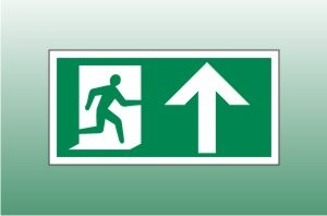 Exit Sign Up - Fire Exit Up Signs