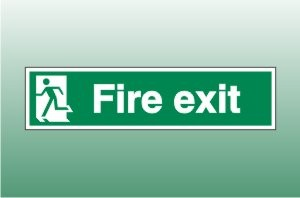 Final Exit - left - Fire Safety Signs