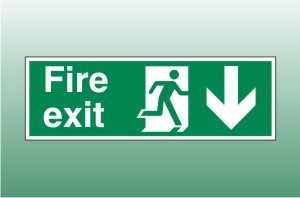 Fire exit sign down - Fire Exit Down Signs