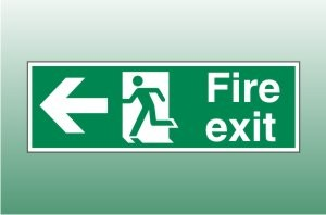 Fire exit sign left - Fire Exit Left Signs