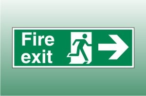 Fire exit sign right - Fire Exit Right Signs