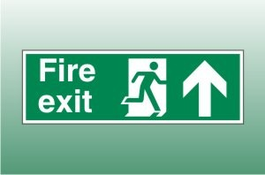 Fire exit sign up - Fire Exit Up Signs