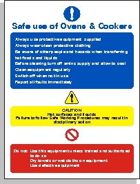 Safe Use of Ovens Sign