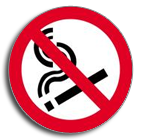 No smoking symbol disc sign