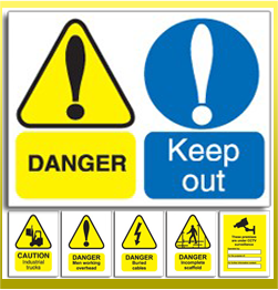 Warning Health and Safety Signs